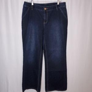 Lane Bryant wide leg denim Jean trousers  sz 18